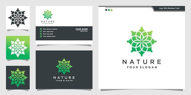 自然のロゴと名刺のデザイン