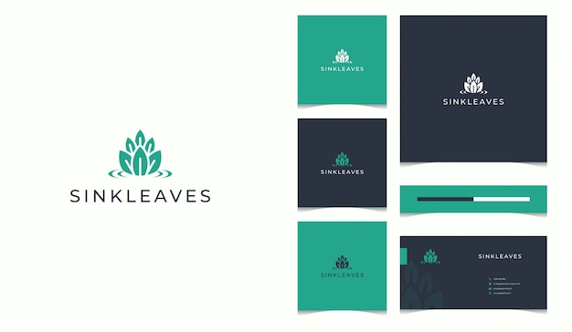 Nature logo completed with business card design template