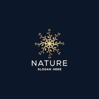 自然のロゴのデザインテンプレート