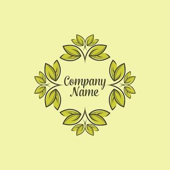 Nature logo. floral emblem.