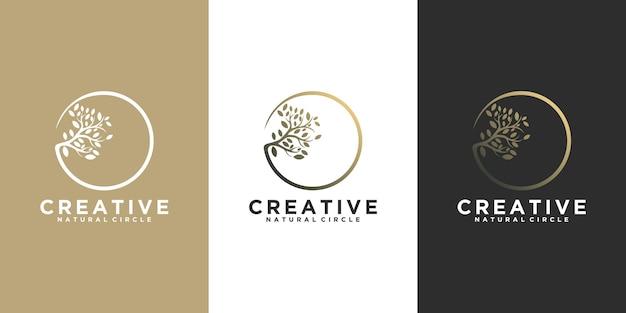 Логотип природы, косметический логотип, йога, салон красоты и др., справочник по логотипу для бизнеса