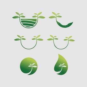 자연 로고 벡터 디자인 서식 파일