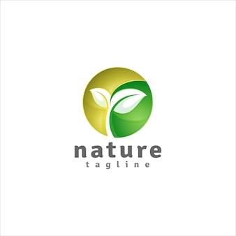 원 스타일의 자연 로고