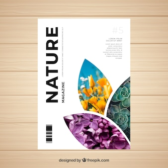 Environment vectors photos and psd files free download nature magazine cover template with photo yelopaper Image collections