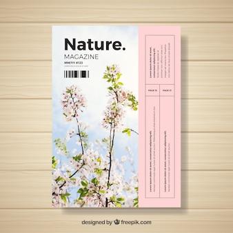 Nature magazine template