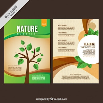 Nature magazine with a tree cover