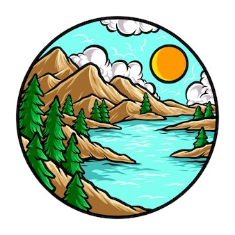 Природа горная река wanderlust