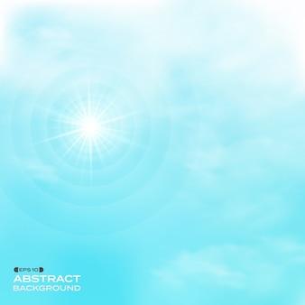 青空のパターンのバックグラウンドに設定された雲の性質。