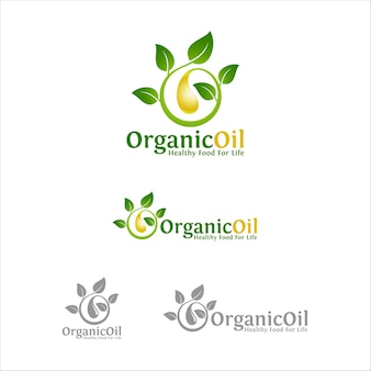 Nature organic oil logo