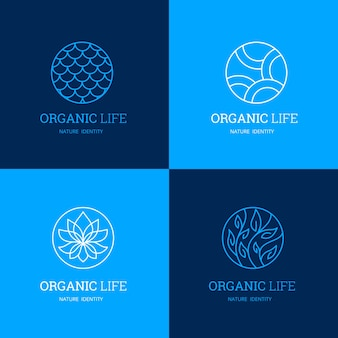 Шаблоны логотипов nature и organic