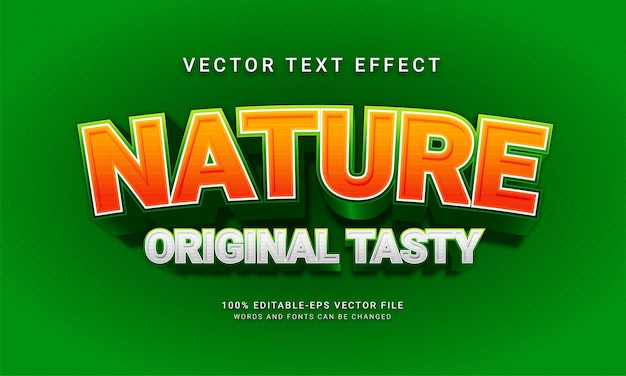 Nature original tasty editable text style effect with natural fresh green theme