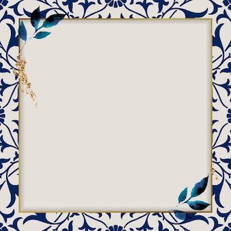 Nature ornamental border frame pattern
