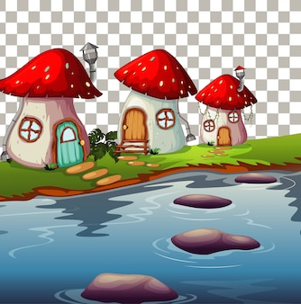 Nature outdoor fairy tale theme transparent background