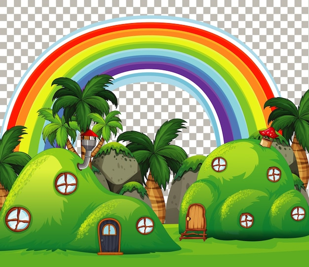 Nature outdoor fairy tale theme on transparent background