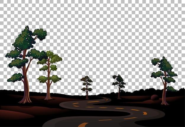긴 도로와 투명한 하늘이있는 자연 야외 풍경