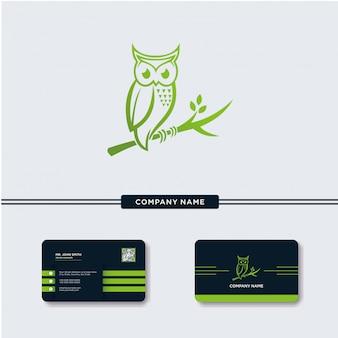 Nature Owl Logo Vector Template