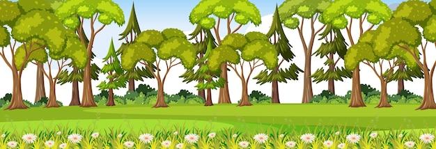 낮 시간 가로 장면에서 자연 공원