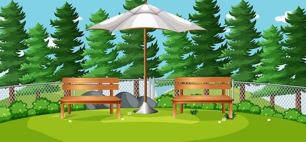 Nature park picnic empty scene