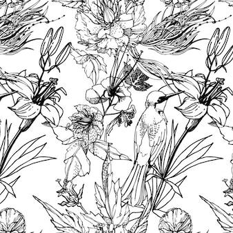Nature pattern design Free Vector