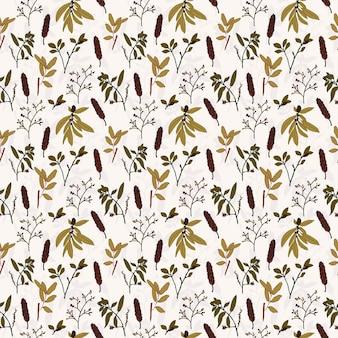 자연 패턴 태평양 북서부 버드 나무 잎 프리미엄 벡터