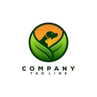 Nature pet food logo design