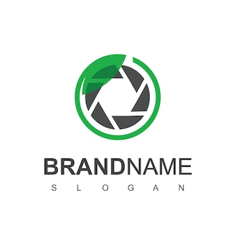 Nature photography logo design template