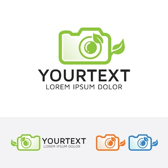 Nature photography vector logo template