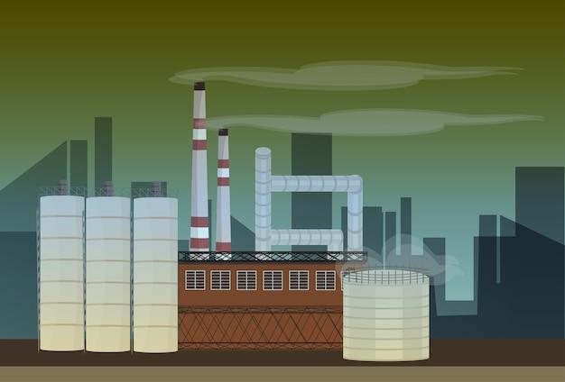 Nature pollution plant
