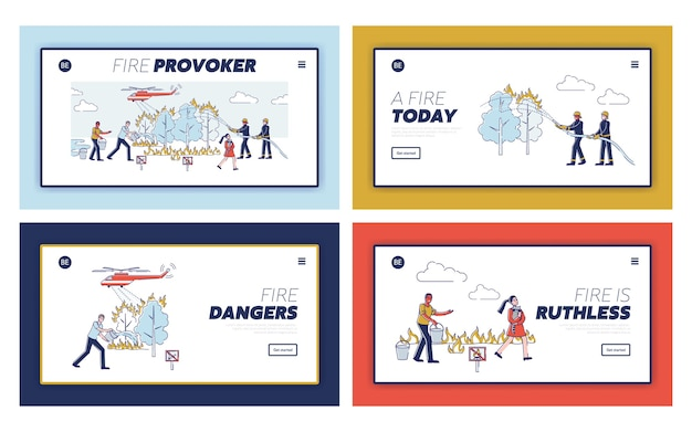 Nature protection landing page set