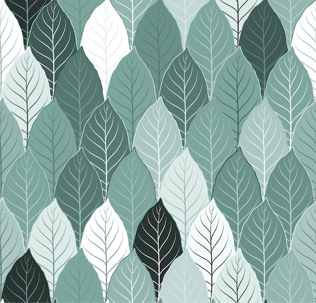 Nature seamless pattern background with leaves