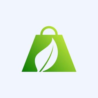 네이처 쇼핑 로고 디자인 템플릿