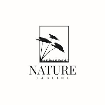 自然のシンプルなロゴデザイン