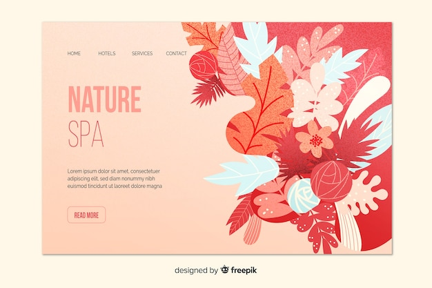Nature spa landing page template
