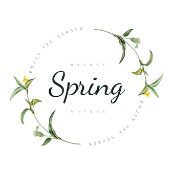 Nature spring logo design vector