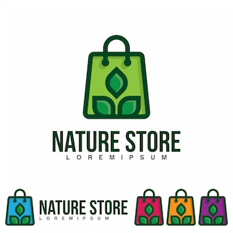 Nature store logo illustration template