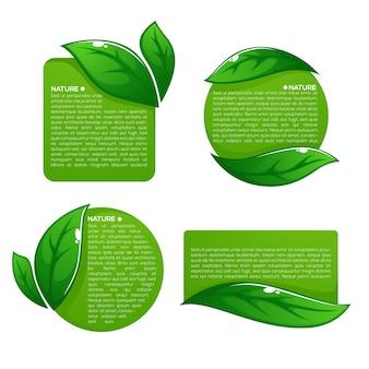 Nature tag templates illustration