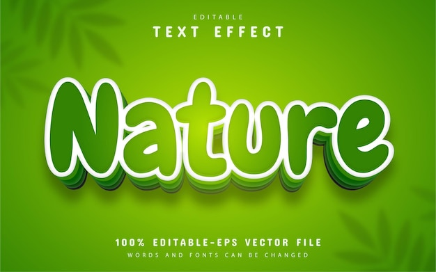 Nature text effect cartoon style