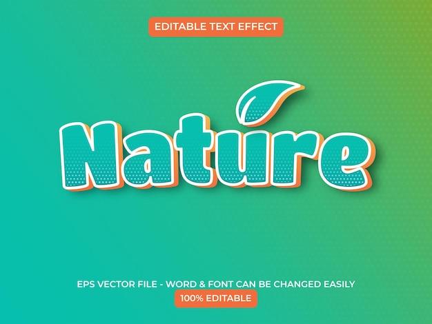 Текстовый эффект природы редактируемый текстовый эффект