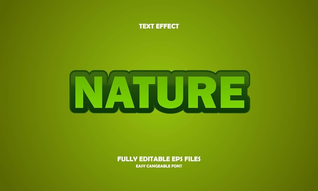 Nature text effect