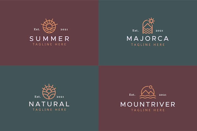 Значок с логотипом праздника темы природы