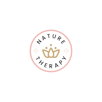 Nature therapy spa logo vector