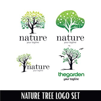 Шаблон логотипа nature tree