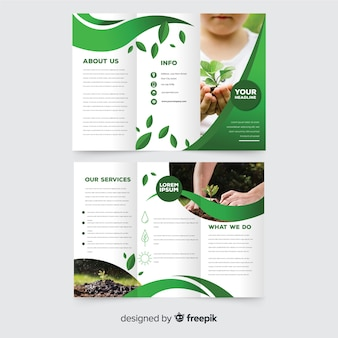 Nature trifold flyer template