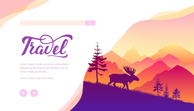 Набор карт брошюры вектор природы. экологический шаблон flyear, веб-баннер, заголовок пользовательского интерфейса, введите сайт.