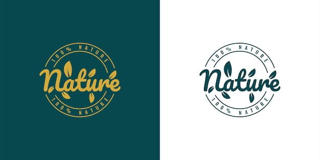 자연 빈티지 로고 일러스트 템플릿 디자인