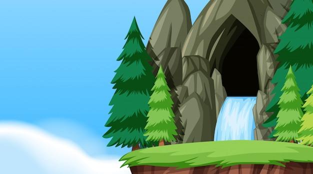 A nature water cave landscape