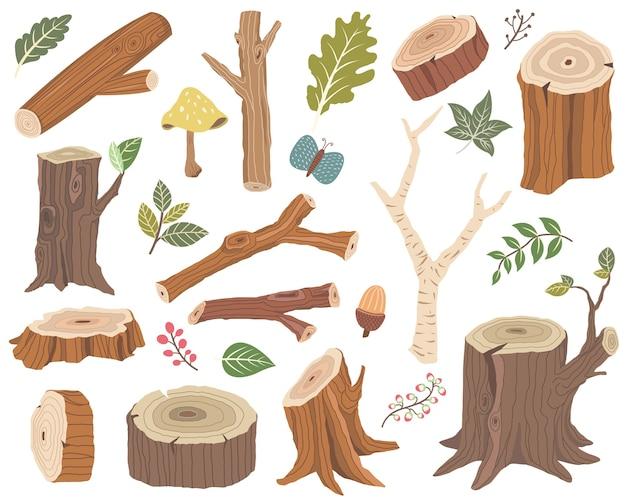 自然木製コレクション要素セット