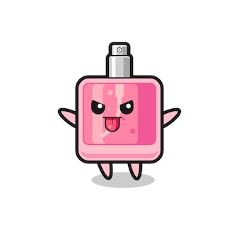 Naughty perfume character in mocking pose , cute style design for t shirt, sticker, logo element