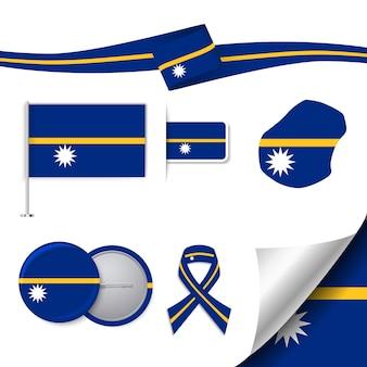 要素を持つナウルの旗