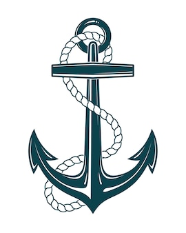 Nautical Anchor With Rope